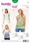 6763 Burda Pattern: Misses' Double Layer Summer Tops